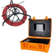 FORBEST FB-PIC3588A Layflat Color Sewer/Drain Camera,150' Cable W/ Sonde Transmitter,Footage Counter