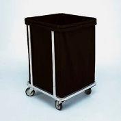 "Forbes Laundry Cart 1106 HD Cloth 22""L x 22""W x 32-1/2""H, 6 Bushel, Black"