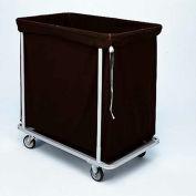 "Forbes Laundry Cart 1112 HD Cloth 37""L x 22""W x 38""H, 12 Bushel, Black"