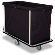 "Forbes Laundry Cart 1120-B HD Cloth 48-1/2""L x 23-1/2""W x 39""H, 15 Bushel, Black"