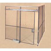 Wov-N-Wire™ Wire Mesh Pre-Designed, 2 Sided Room Kit, 20'W X 15'D X 10'H, W/Slide Door