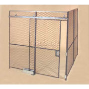 Wov-N-Wire™ Wire Mesh Pre-Designed, 2 Sided Room Kit, 30'W X 20'D X 8'H, W/Slide Door