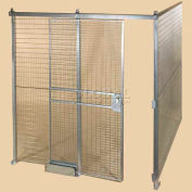 Qwik-Fence® Wire Mesh Pre-Designed, 2 Sided Room Kit, W/Roof 12'W X 12'D X 12'H, W/Slide Door
