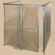 Qwik-Fence® Wire Mesh Pre-Designed, 3 Sided Room Kit, W/Roof 16'W X 12'D X 12'H, W/Slide Door