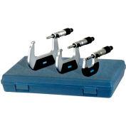 "Fowler 52-229-213 0-3"" 3 Piece Economy Mechanical Micrometer Set"