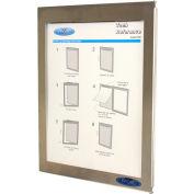 Frost® fermé le journal des événements & Communication affichage avec cadre en acier inoxydable