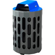 Frost Stingray Outdoor Waste Receptacle 2020, 42 Gallon Capacity - Blue