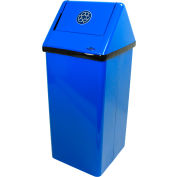 Frost Free Standing Blue Recycling Receptacle, 21 Gallon, 301-RNL