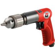 """Universal Tool UT8840R-1, 1/2"""" Pistol Air Drill, 0.65 HP, 800 RPM, 3.5 CFM, Reversible, 90 PSI"""