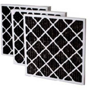 "Filtration Manufacturing 02OS-24241 Charcoal Pleated Filter , 24""W x 24""H x 1""D - Pkg Qty 12"