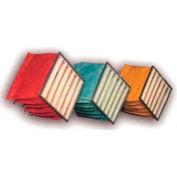"""Filtration, fabrication 0701-66202412 sac filtre, Merv 12, 6 poches, W 20"""" x 24 «H x 12"""" P, qté par paquet : 4"""
