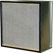 "Filtration Manufacturing 0901-PB7242012 HEPA Filter, MERV 18, Particle Board, 24""W x 20""H x 12""D"