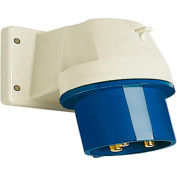 Walther Electric 631306, Male Inlet, 30/32A, 3P, 230/250Vac, 6 Hr, IP44, Angled 80 Degree