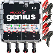 NOCO Genius 4.4 Amp 4-Bank UltraSafe Battery Charger and Maintainer, 6/12V - G4