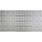 Fasade Traditional Style # 1 - 2' X 4' Vinyl Glue-Up Ceiling Tile in Brushed Aluminum - G50-08