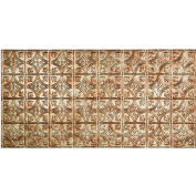 Fasade Traditional Style # 1 - 2' X 4' Vinyl Glue-Up Ceiling Tile in Bermuda Bronze - G50-17
