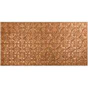Fasade Traditional Style # 1 - 2' X 4' Vinyl Glue-Up Ceiling Tile in Cracked Copper - G50-19