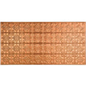 Fasade Traditional Style # 1 - 2' X 4' Vinyl Glue-Up Ceiling Tile in Polished Copper - G50-25