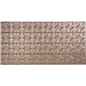 Fasade Traditional Style # 1 - 2' X 4' Vinyl Glue-Up Ceiling Tile in Brushed Nickel - G50-29