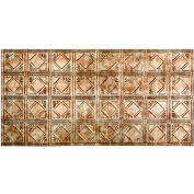 Fasade Traditional Style # 4 - 2' X 4' Vinyl Glue-Up Ceiling Tile in Bermuda Bronze - G53-17
