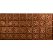 Fasade Traditional Style # 4 - 2' X 4' Vinyl Glue-Up Ceiling Tile in Oil Rubbed Bronze - G53-26