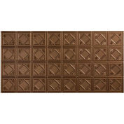 Fasade Traditional Style # 4 - 2' X 4' Vinyl Glue-Up Ceiling Tile in Argent Bronze - G53-28