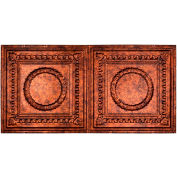 Fasade Rosette 2' X 4' Glue-up Ceiling Tile in Moonstone Copper - G54-18