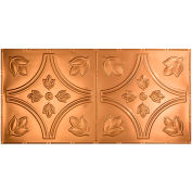 Fasade Traditional Style # 5 - 2' X 4' Vinyl Glue-Up Ceiling Tile in Polished Copper - G57-25