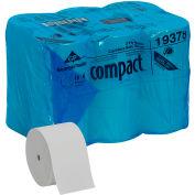 White Coreless High Capacity 2-Ply Toilet Paper, 1500 Sheet/Roll, 18 Rolls/Case - 19378