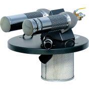 "Guardair 55 Gallon Dual B Pneumatic Vacuum Generating Head w/ 2"" Inlet & Attachment Kit"