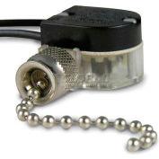 Gardner Bender GSW-31 Nickel Pull Switch, SPST 6a 125 Vac, O/F