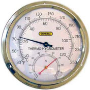"""General Tools A600FC Analog Thermo-Hygrometer With 5"""" Aluminum Dial"""