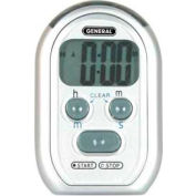 Digital Count-Up/Count-Down Timer With Audible Beeper, Red Led & Vibration Alarm - Pkg Qty 5