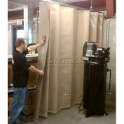 Goff's Stock Sound Curtain 31969 with Hardware - 5'W x 8'H - Beige