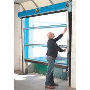 Goff's Spring-Loaded Roll-Up Screen Door G1-S-B-PM-1010 for 10 x 10 Opening, Projection Mount - Blue