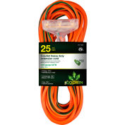 GoGreen Power, 12/3 25' 3-Outlet Heavy Duty Extension Cord, GG-15225, Lighted End
