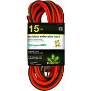GoGreen Power 16/3 SJTW 15ft Heavy Duty Extension Cord, GG-13715 - Lighted End