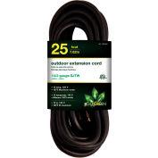 GoGreen Power, GG-13825BK, 25 Ft Extension Cord - Black