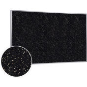 """Ghent® Recycled Rubber Bulletin Board, Aluminum Trim, 72-1/2""""W x 48-1/2""""H, Tan Speckled"""