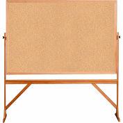 Babillard mobile et réversible à deux côtésGhent®, cadre en bois,78 po de largeur x73-1/2 po de hauteur