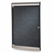 "Ghent® Silhouette Upscale Wall-Mounted Enclosed Bulletin Board, Twilight, 27-3/4""W x 42-1/8""H"