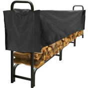 Pleasant Hearth 12' Heavy Duty Log Storage Rack with Half Cover Weather-Resistant LS938-144SC-K