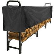 Agréable foyer 12 'robuste rack de stockage de bûches avec demi-couverture résistante aux intempéries LS938-144SC-K