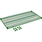"""Nexel® S2472G Poly-Green® Epoxy Wire Shelf 72""""W x 24""""D"""