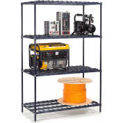 "Nexel® DS18247Z Poly-Z-Brite® Heavy Duty Wire Shelving 24""W x 18""D x 74""H"