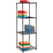 "Nexel® Black Epoxy Wire Shelving, 48""W x 24""D X 86""H"