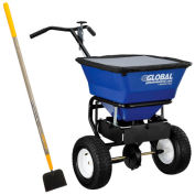 "Global™ Universal Spreader 100 Lb. Capacity W/Free 14"" Snow Scoop"