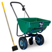 "High-Capacity Spreader, 100 Lb. Capacity, 10"" Tires, Green W/Free 14"" Snow Scoop"