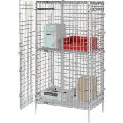 "Nexel® Poly-Z-Brite® Security Shelving Unit, 48""W x 24""D x 66""H"