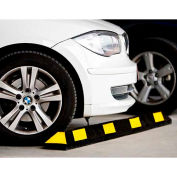 "GNR® Park It® Black with Yellow Stripes Parking Curb - 48""L"